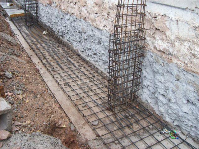 Muros de hormigon inclinados